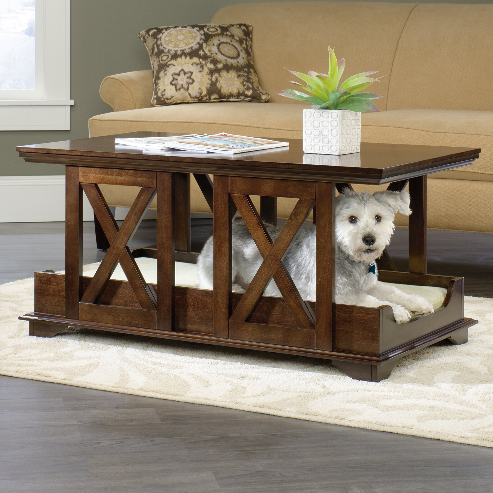 Coffee Table Dog Bed - Sauder Coffee Table Dog Bed & Reviews Wayfair