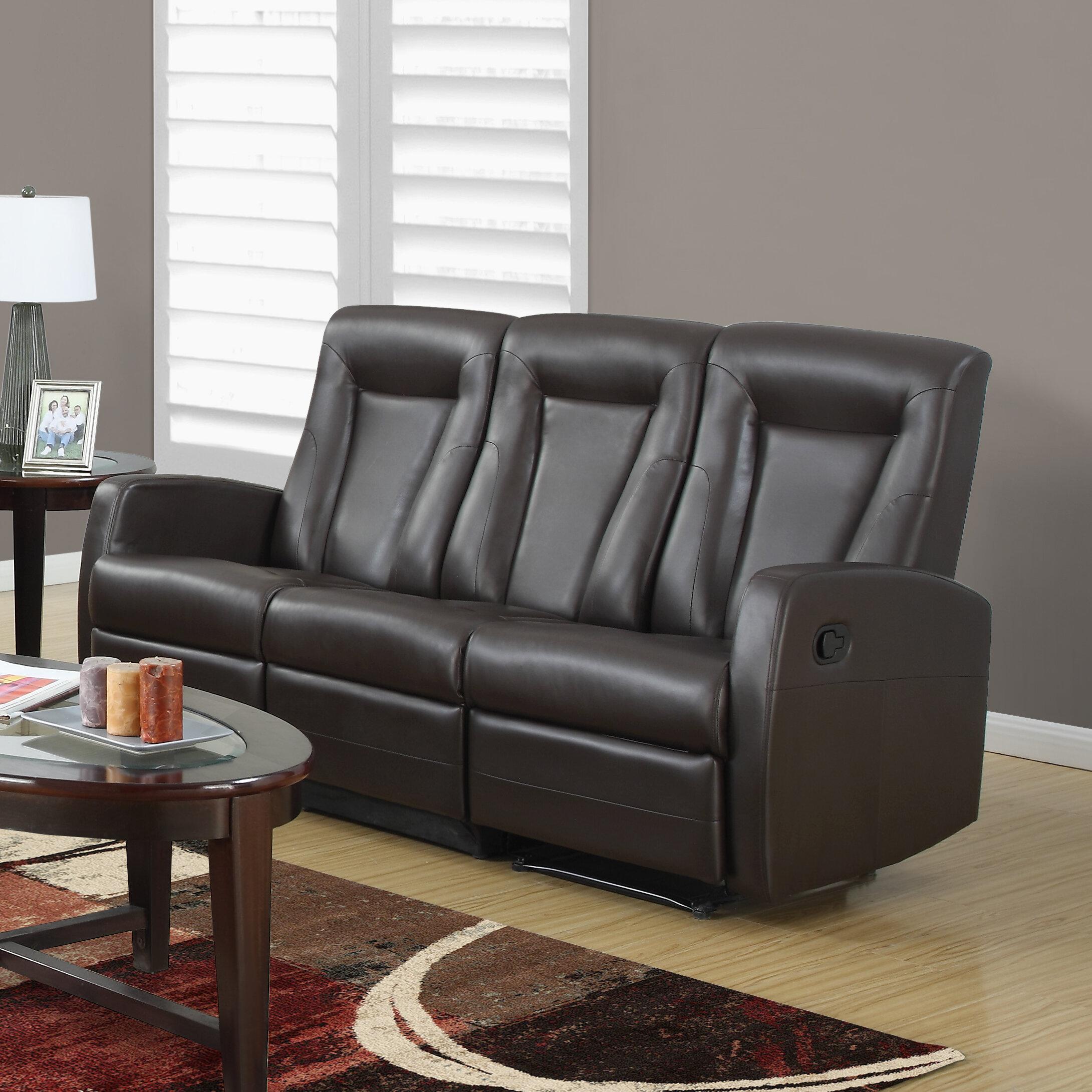 monarch specialties inc bonded leather reclining sofa reviews rh wayfair com elran bonded leather reclining sofa norwich bonded leather reclining sofa