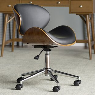 Olmstead Mid-Back Desk Chair & Oak Office Chair | Wayfair.co.uk