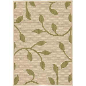 Marissa Beige/Green Outdoor Area Rug