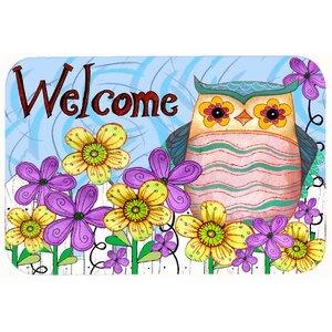 Welcome Owl Kitchen/Bath Mat