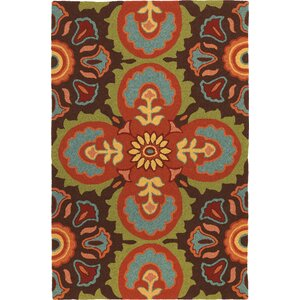 Talavera Tile Chocolate Area Rug