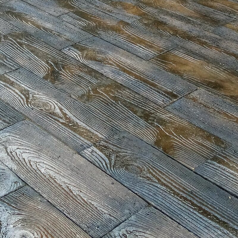 Natural Concrete Products Co Barnwood Plank Patio On A
