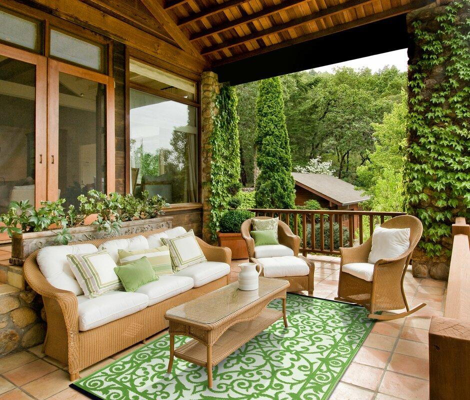 green decore au enteppich in gr n wei. Black Bedroom Furniture Sets. Home Design Ideas