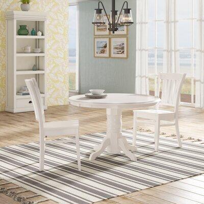 Langwater 3 Piece Bistro Set Beachcrest Home Color: Linen White