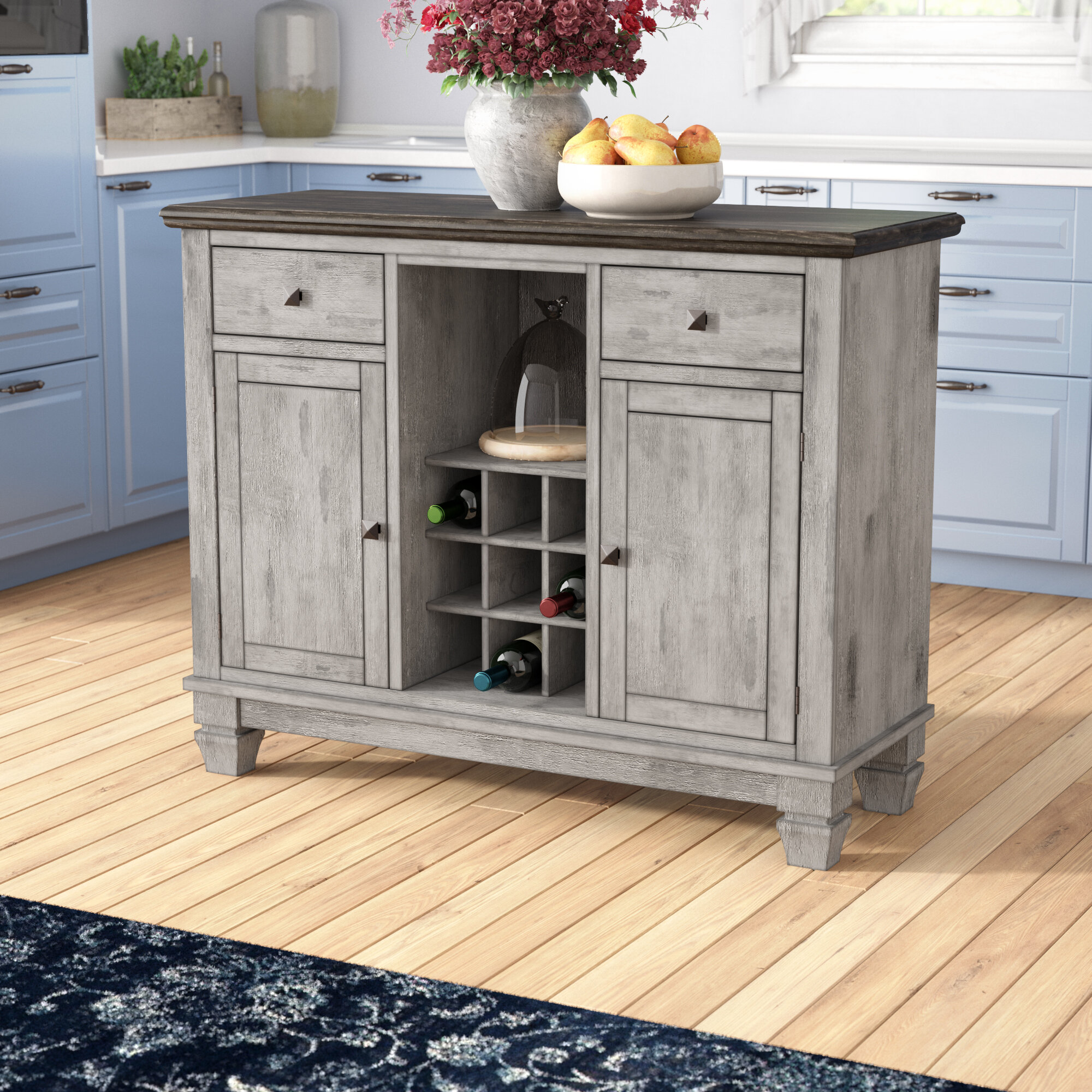 Wood Top Island Kitchen