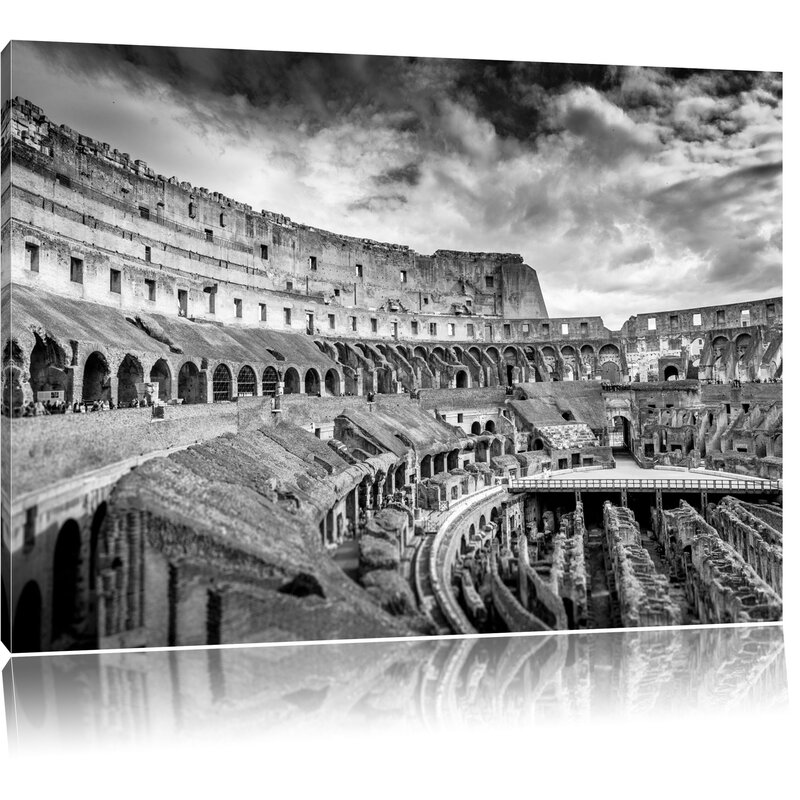 Pixxprint Colosseum in Rome Wall Art on Canvas | Wayfair.co.uk