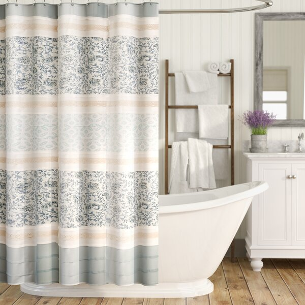 August Grove Chambery Cotton Shower Curtain Reviews