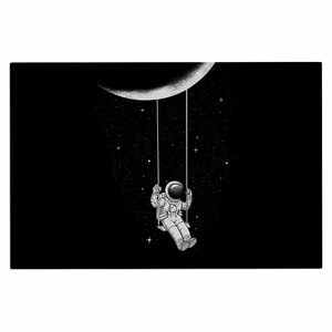 Digital Carbine Moon Swing Fantasy Illustration Doormat