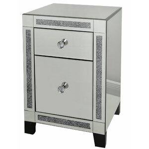 havant 2 drawer bedside table