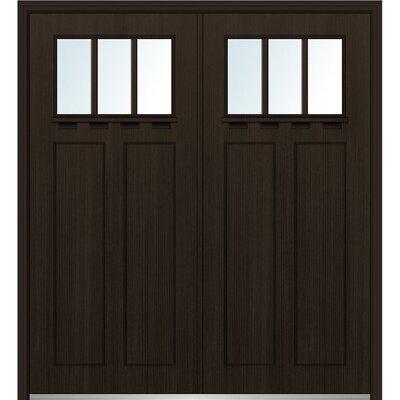 Craftsman Shaker Fiberglass Prehung Front Entry Door