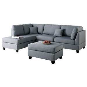 Bibler Reversible Sectional with Ottoman  sc 1 st  AllModern : modern sofa with chaise - Sectionals, Sofas & Couches