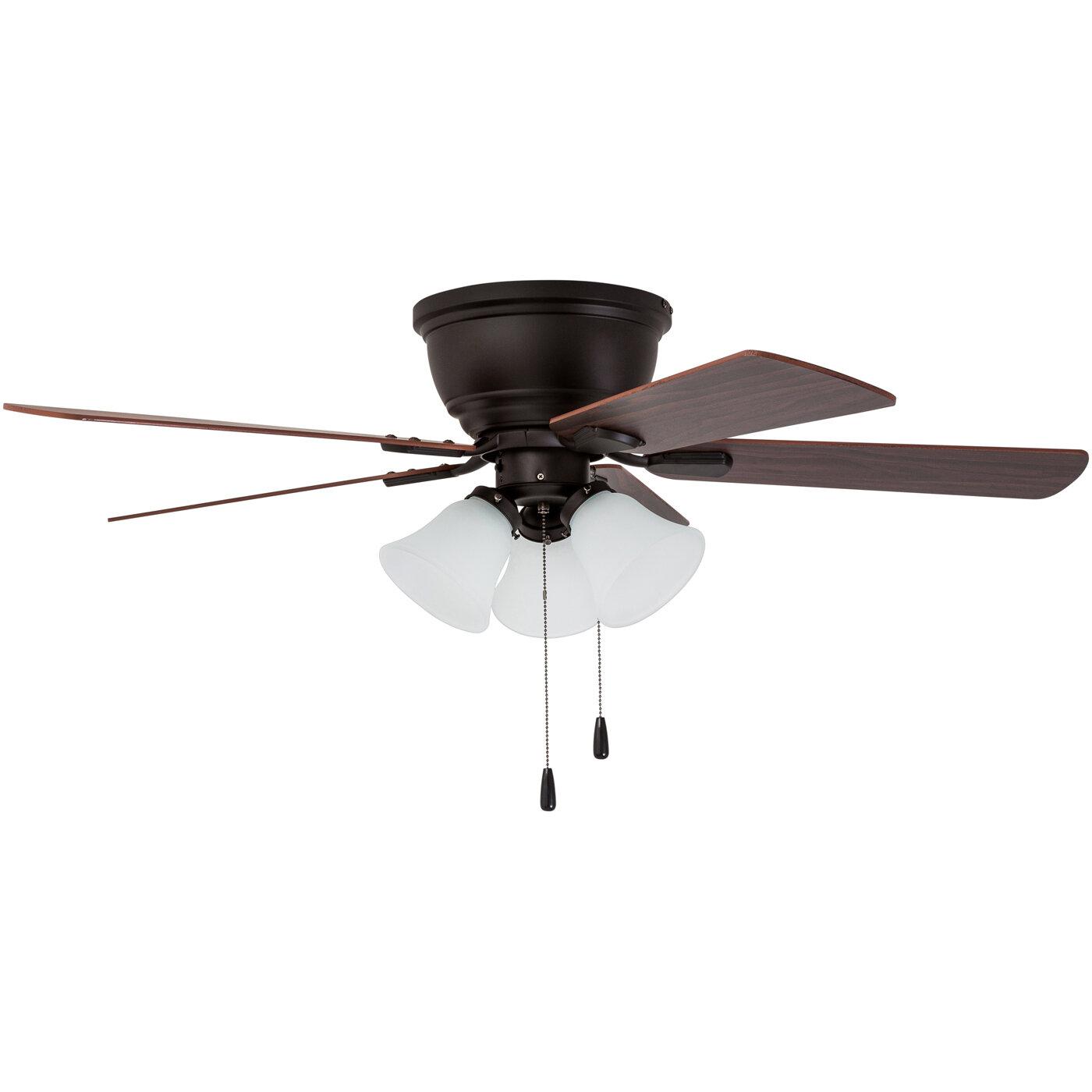 "Charlton Home 46"" Crumpton 5 Blade LED Ceiling Fan & Reviews"