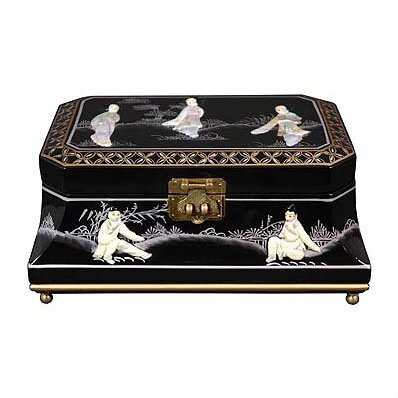 Oriental Furniture Adorlee Asian Jewelry Box Reviews Wayfair