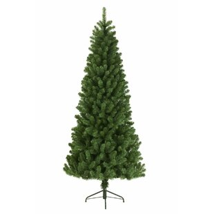 f416e3aa2d2 Slim 6ft Green Pine Artificial Christmas Tree with Stand
