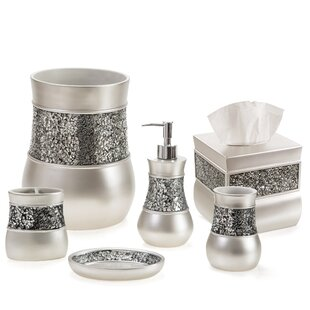 Keira Brushed Nickel 6 Piece Bathroom Accessory Set