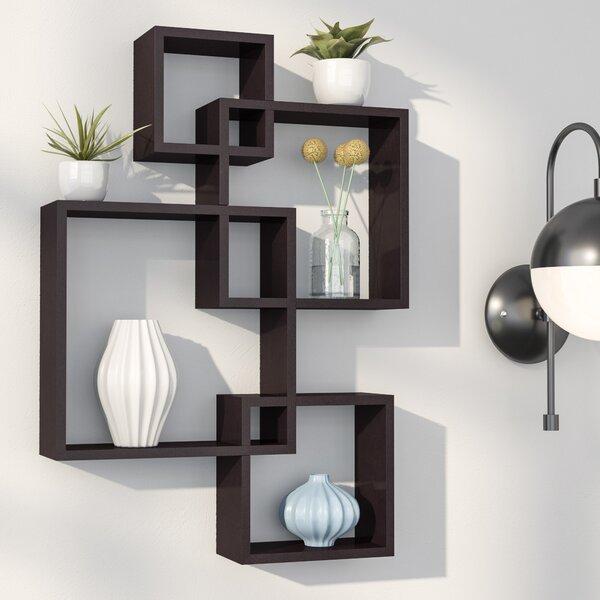 Stylish Ideas For Arranging And Organizing Bookcases: Langley Street Elizabella Intersecting Cubes Shelf