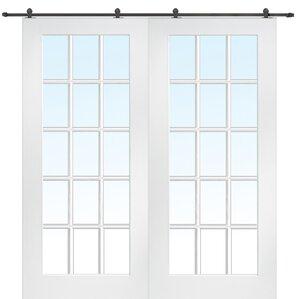 primed 2 panel french door - Door Panel Curtains