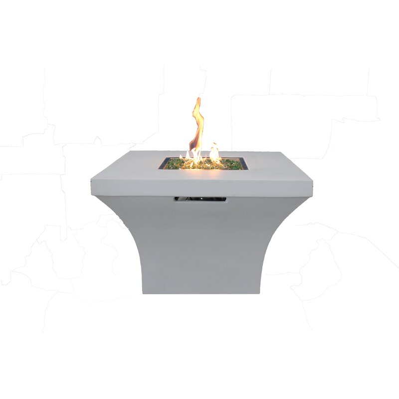 New Spring Patio Concrete Propane Fire Pit Table Wayfair - Black propane fire pit table