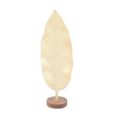 Bay Isle Home Ridgemoor Leaf Sculpture