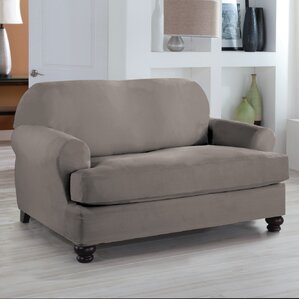 Loveseat T-Cushion Slipcover by Red Barrel Studio