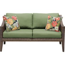 Nice Manhattan Outdoor Wicker Loveseat With Cushions