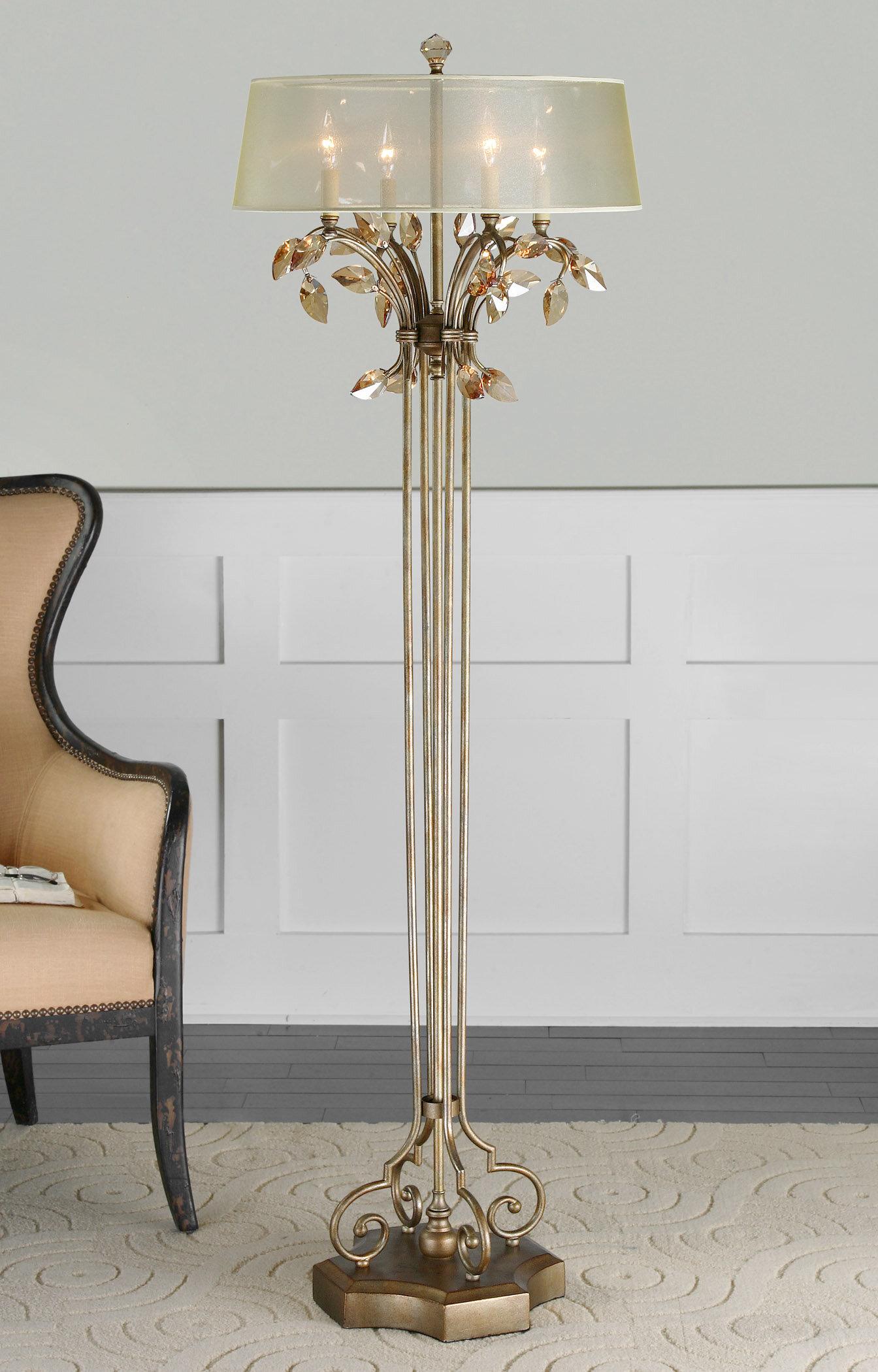 Astoria grand wadsworth 65 candelabra floor lamp reviews wayfair aloadofball Images