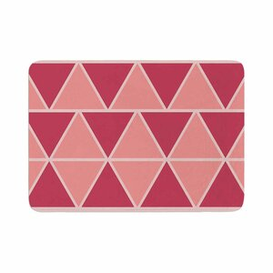 NL designs Coral Triangles Patterns Memory Foam Bath Rug