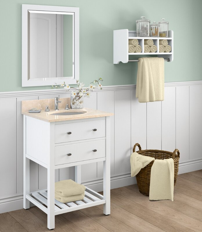 Alaterre Harrison Single Bathroom Vanity With Mirror And Shelf - Bathroom vanities with shelves