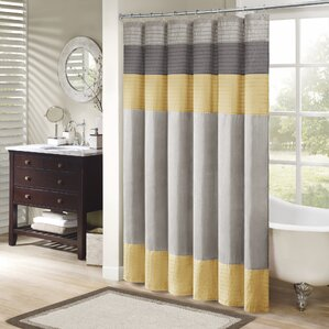 Morell Shower CurtainGray   Silver   Yellow   Gold Shower Curtains You ll Love   Wayfair. Silver And Gold Shower Curtain. Home Design Ideas