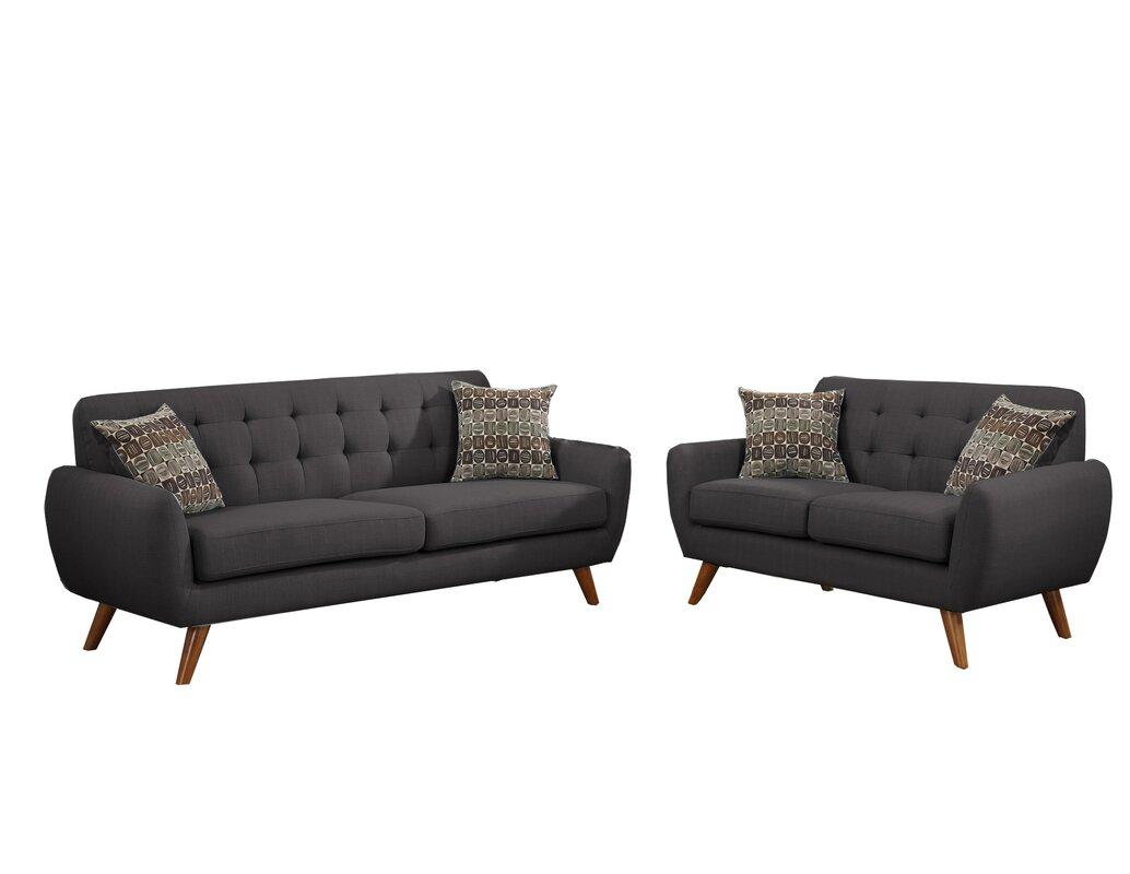 Wooten 2 Piece Living Room Set & Reviews | AllModern