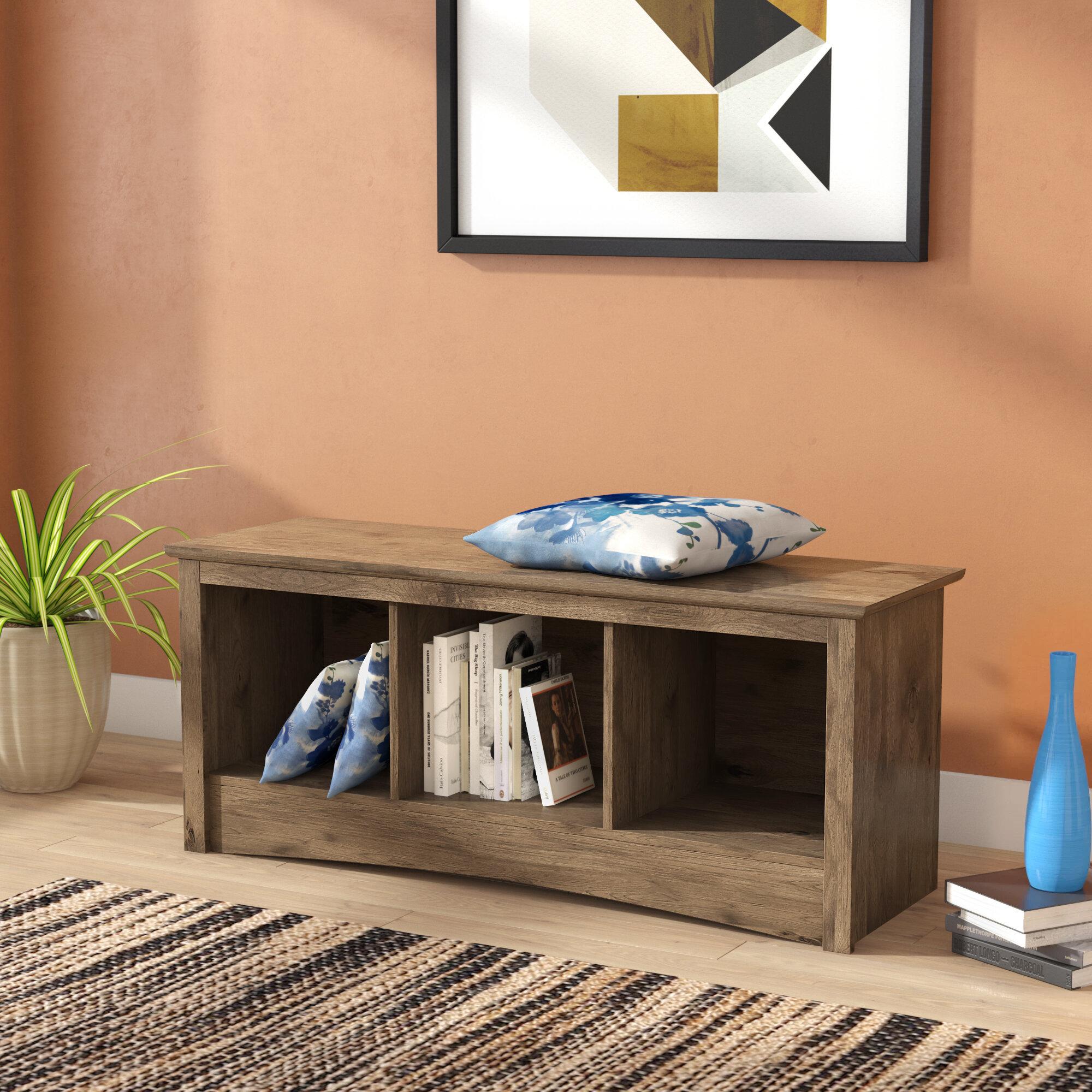 Latitude Run Penelope Wood Storage Bench