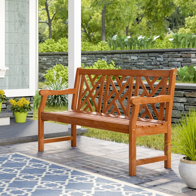 Demond Outdoor Eucalyptus Garden Bench
