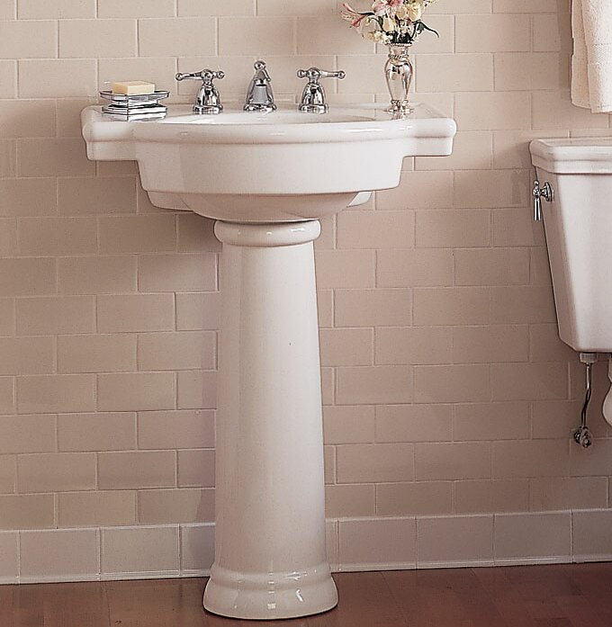 "Bathroom Sinks Pedestal american standard retrospect 27"" pedestal bathroom sink with"