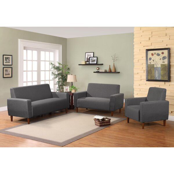 Mid 3 Piece Living Room Set