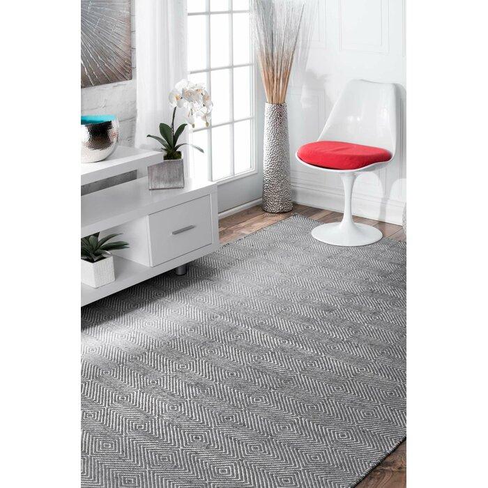 Marcelo Flat Woven Grey Area Rug