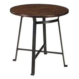 Black distressed finish pub tables bistro sets youll love wayfair dube round pub table watchthetrailerfo