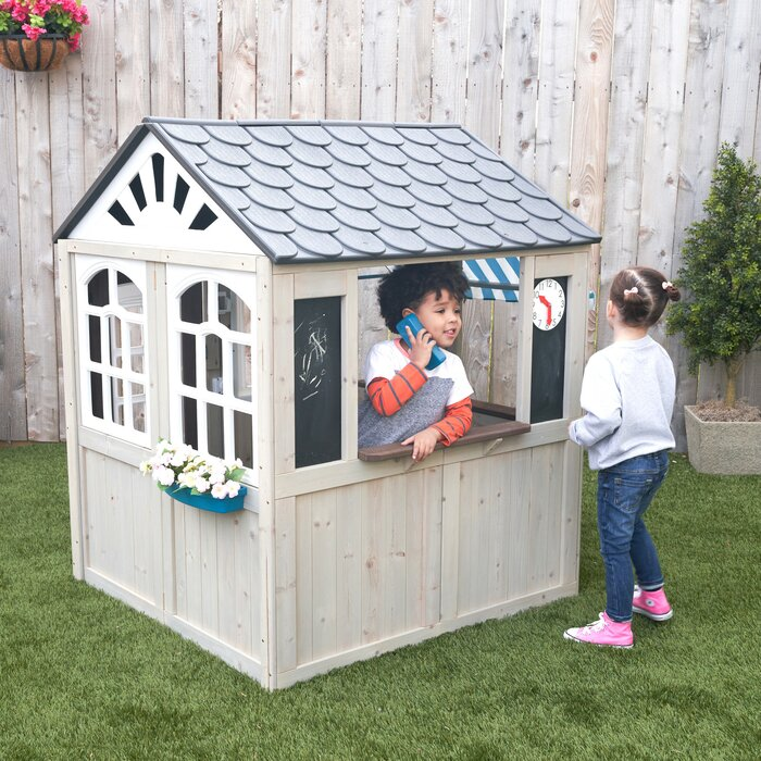 Kidkraft Hillcrest Wooden 45 X 45 Playhouse Wayfair