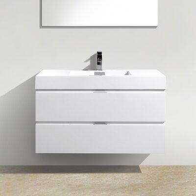 Tenafly 40 Single Wall Mount Modern Bathroom Vanity Set