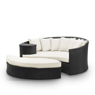 Greening Outdoor Daybed With Ottoman U0026 Cushions