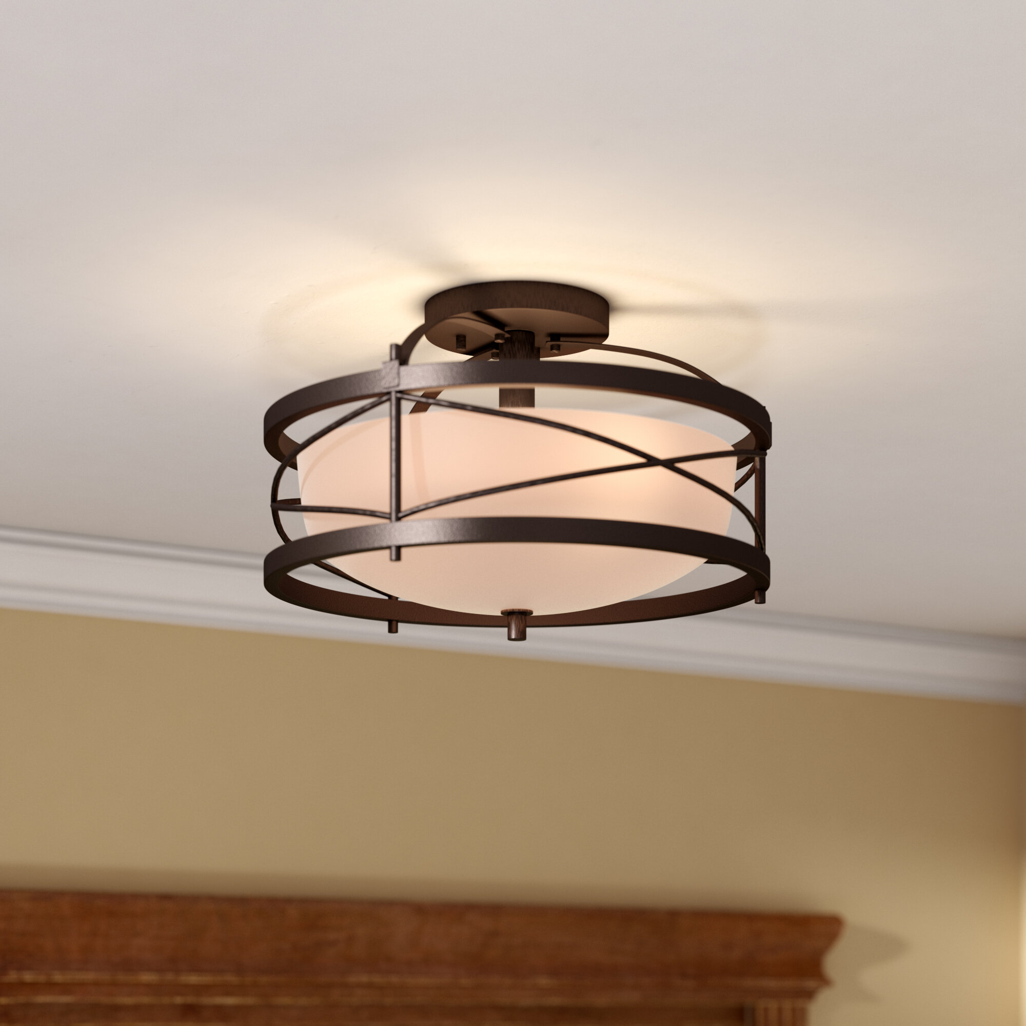Flush mount lighting youll love wayfair save aloadofball Choice Image