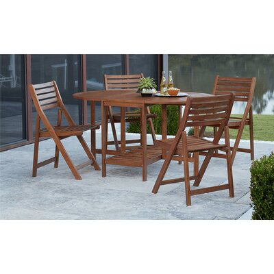 5 piece outdoor dining set. Fairmead 5 Piece Outdoor Wood Dining Set