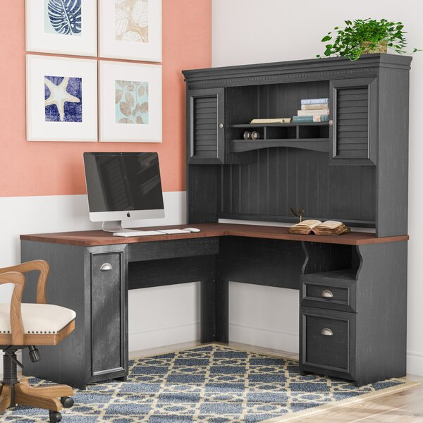 Beachcrest Home Oakridge L Shaped Executive Desk With