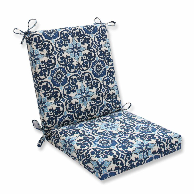 outdoor dining chair cushions Alcott Hill Bushman Indoor/Outdoor Dining Chair Cushion & Reviews  outdoor dining chair cushions