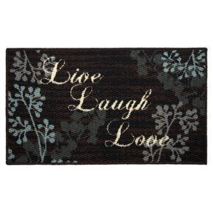 Textured Loop Live Laugh Love Kitchen Area Rug