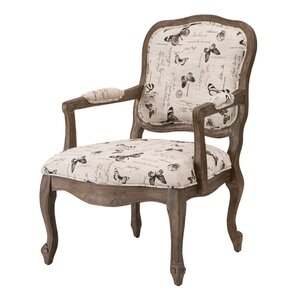 Monroe Camel Back Wood Armchair by Madison Park