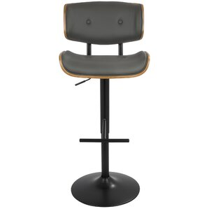 Arlon Adjustable Height Swivel Bar Stool by Wade Logan