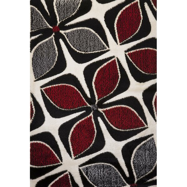 - Luxury Home Signature Floral Red/Gray Area Rug & Reviews Wayfair