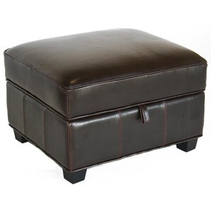 Dascomb Leather Ottoman by Alcott Hill