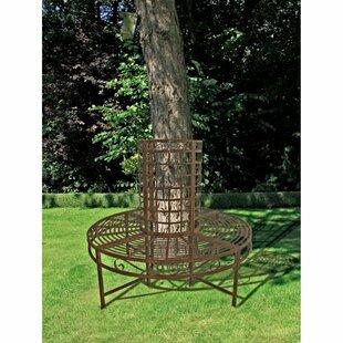 8-Seater Romantic Metal Tree Bench by Lynton Garden